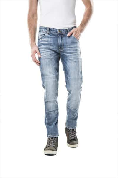 motorcycle jeans men kevlar-protectors-certyficate CE-Italia mottowear front view