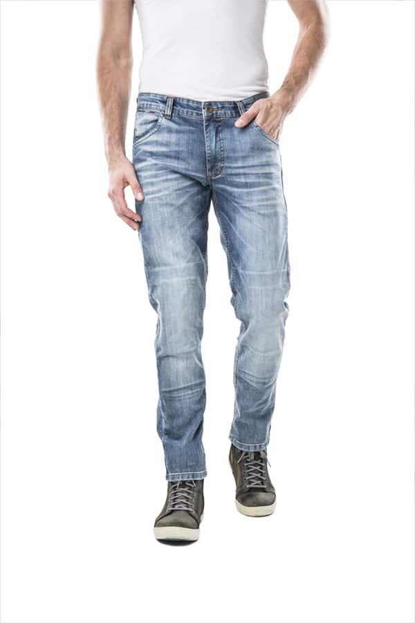 motorcycle jeans men kevlar-protectors-certyficate CE-Italia mottowear front view