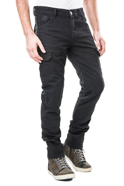motorcycle cargo pants with kevlar Italia cargo black mottowear