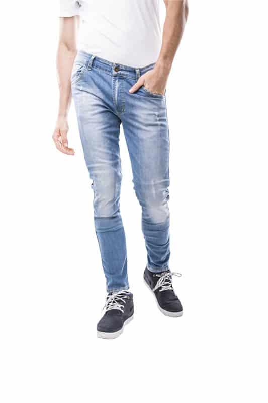 motorcycle jeans men kevlar-protectors-certyficate CE-Imola mottowear front view