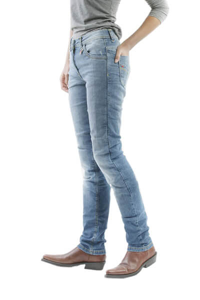 motorcycle kevlar jeans stella blue motto wear