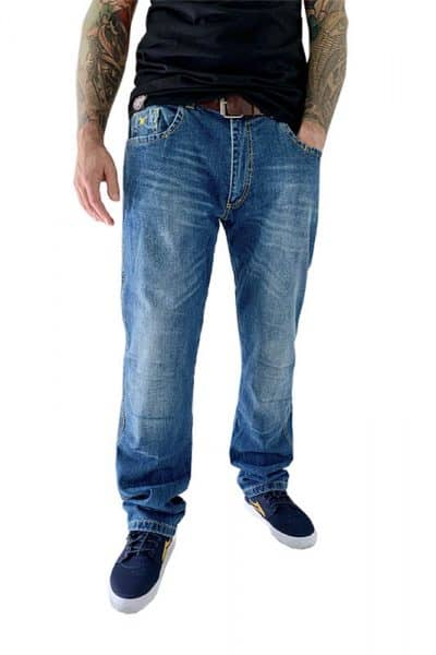 motorcycle jeans men City 2.0 kevlar protectors mottowear front view