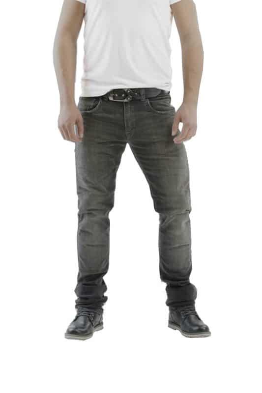 motorcycle jeans men kevlar-protectors-certyficate CE Gallante Gray mottowear front view