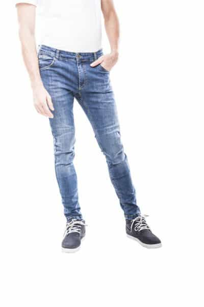 motorcycle jeans men kevlar-protectors-certyficate CE-Milano mottowear front view