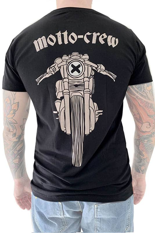 motorcycle tshirt Mottowear back view